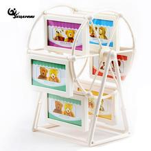 White Ferris Wheel Rotate Picture Frames European Large Windmill Children Room Photo Wedding Home Decor