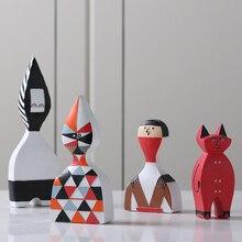 Couleur abstraite marionnettes ornements Figurines Miniatures accessoires pour la maison cadeaux bureau personas créatifs affiche artisanat