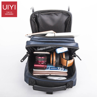 UIYI High Capacity Men Leather Messenger Bag Japanese Korean Style Men Chest Pack Casual Travel Shoulder