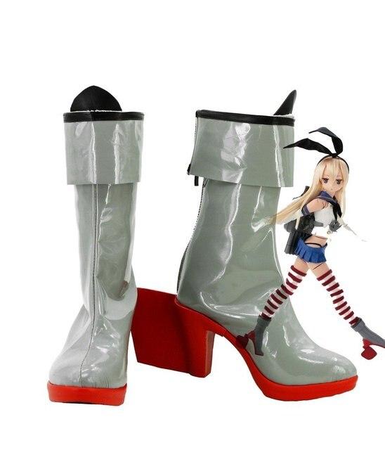 Kantai Collection Shimakaze Cosplay Shoes Boots Custom Made