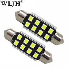 Wljh 10x Mobil 31 Mm 36 Mm 39 Mm 41 Mm CANBUS C5W LED Bohlam Lampu 2835 SMD untuk audi Volkswagen Mercedes-Benz BMW E36 E46 E90 E60(China)
