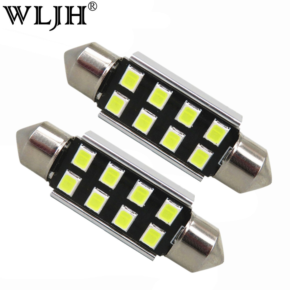 WLJH 10x Car Light 31mm 36mm 39mm 41mm CANbus C5W Led Light Bulb 2835 SMD For Audi Volkswagen Mercedes-Benz BMW E36 E46 E90 E60 wljh 2x canbus 20w 1156 ba15s p21w led bulb 4014smd car backup reverse light lamp for bmw 228i 320i 328d 328i 335i m3 x1 x4 2015