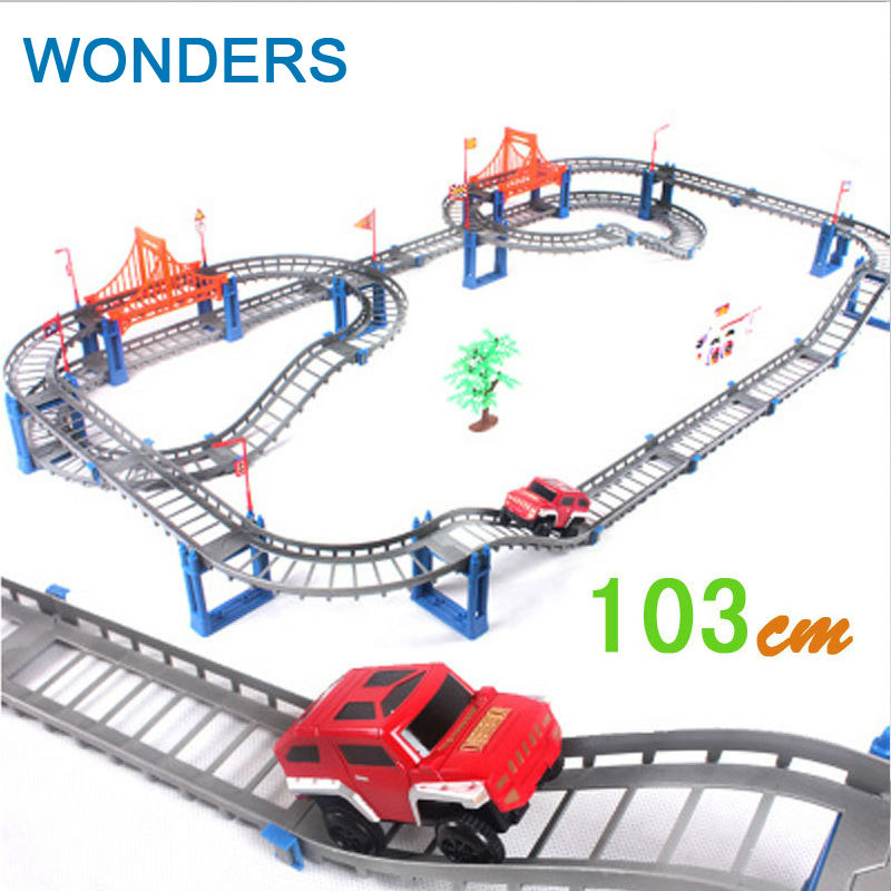 Rail car toy 103cm big Multilayer rail kids Thomas electric train track Toys with retail packaging