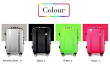 New arrival!24 inch wholesale aluminum frame travel luggage,green/silver/black/rose color universal wheel trolley bags,female