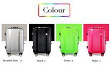 Neue Ankunft! 24 Zoll Großhandel Aluminium Rahmen Reisegepäck, grün/Silber/Schwarz/Rose Farbe Universal Rad Trolley Taschen, weibliche
