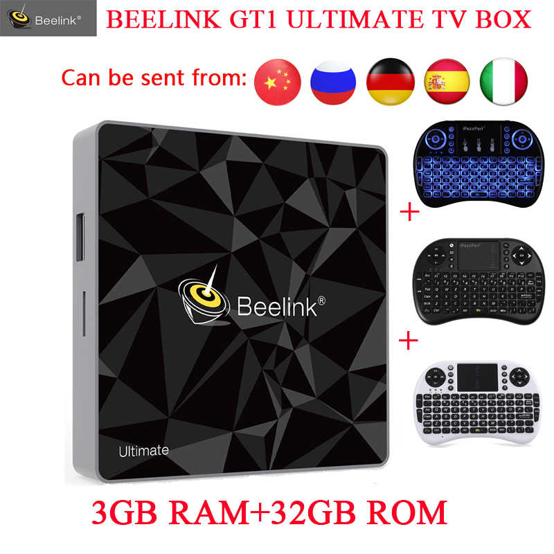 Beelink GT1 Ultimate TV Box Amlogic S912 Octa Core Android 7 1 Media Player  3G RAM DDR4 32G 5G WIFI Bluetooth 4 0 Set Top Box