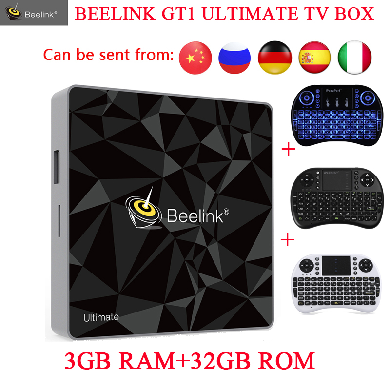 Beelink GT1 Ultimate TV Box Amlogic S912 Octa Core Android 7.1 Media Player 3G RAM DDR4 32G 5G WIFI Bluetooth 4.0 Set Top Box медиаплеер beelink gt1 2 16