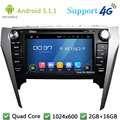 "Quad Core 1024*600 8 ""Android 5.1.1 Автомобильный DVD Мультимедиа Плеер Стерео Радио DAB + FM 3 Г/4 Г, WIFI, GPS Карта TOYOTA Camry 2012-2014"