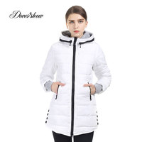 Women S Hooded Cotton Padded Jacket Winter Medium Long Cotton Coat Plus Size Down Jacket Female