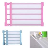 Wardrobe Storage Rack Adjustable Shelf Space Saving Cabinet Divider Organizer Clothes Drying Rack Bathroom Organizer
