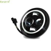 Авто 7 inch круглый автомобилей яркие светодиодные лампы авто Halo угол eyeslamp фара для J EEP 97 2016 автомобилей Стайлинг автомобиля свет Тюнинг автом