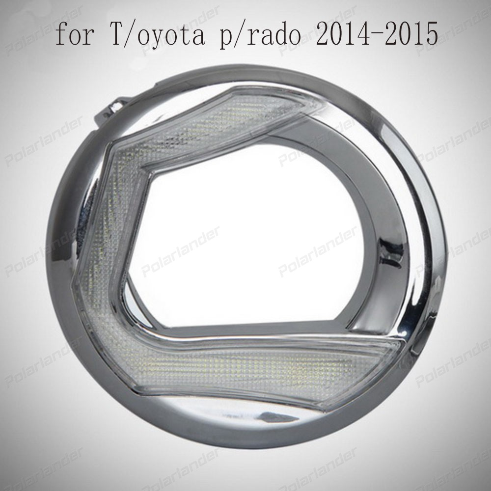 Fog light Daytime running light Car styling 6000k LED DRL for T/oyota P/rado 2014-2015 fog lamp