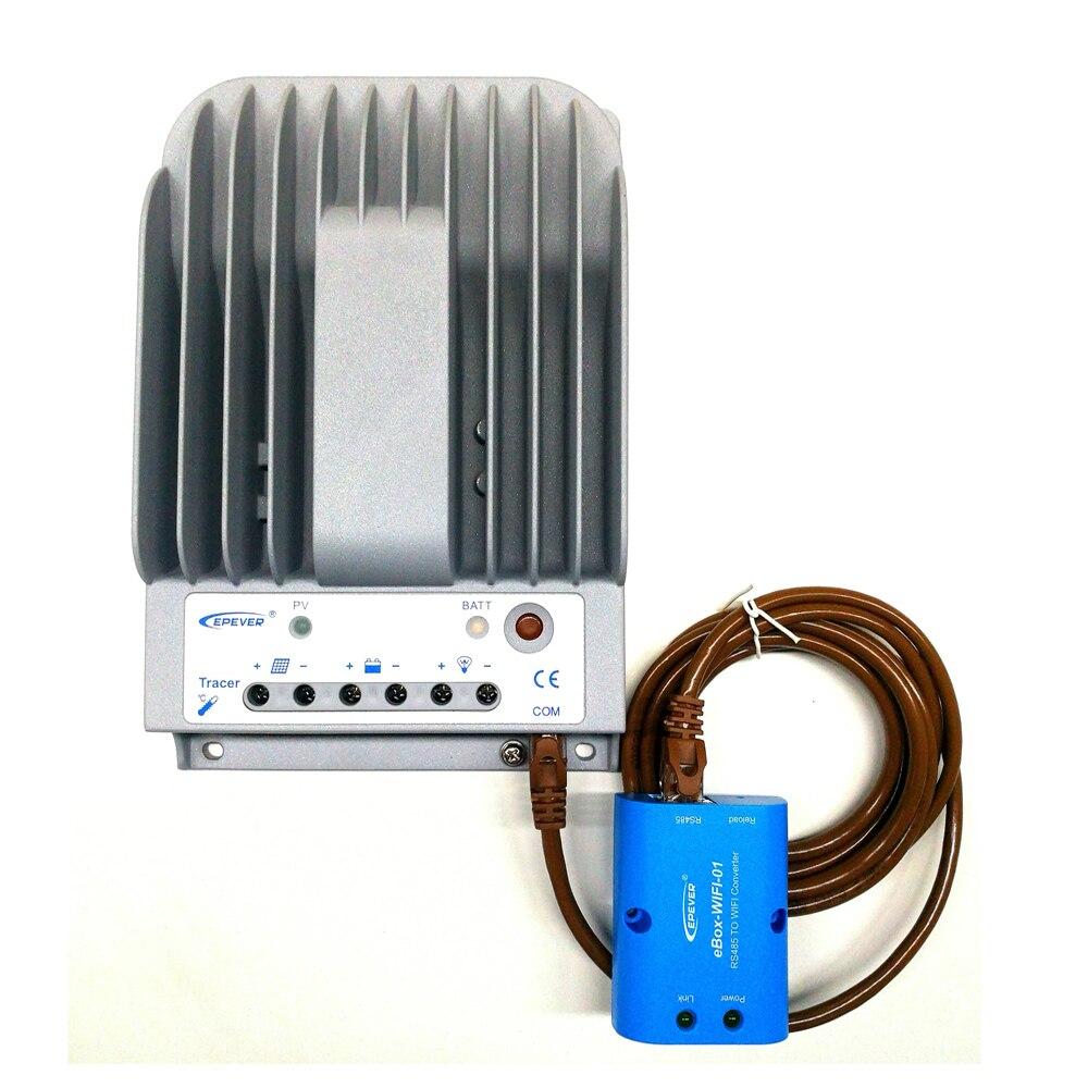MPPT Solar Charge Regulator Tracer 2215BN 20A 12V/24V Controller Voltage Controller Lighting Controller with Wifi Box