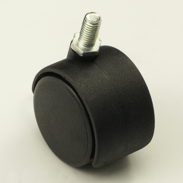 Black Plastic 50mm Replacement Swivel Casters Office Chair Sofa Wheels  Rolling Roller Caster Furniture Hardware