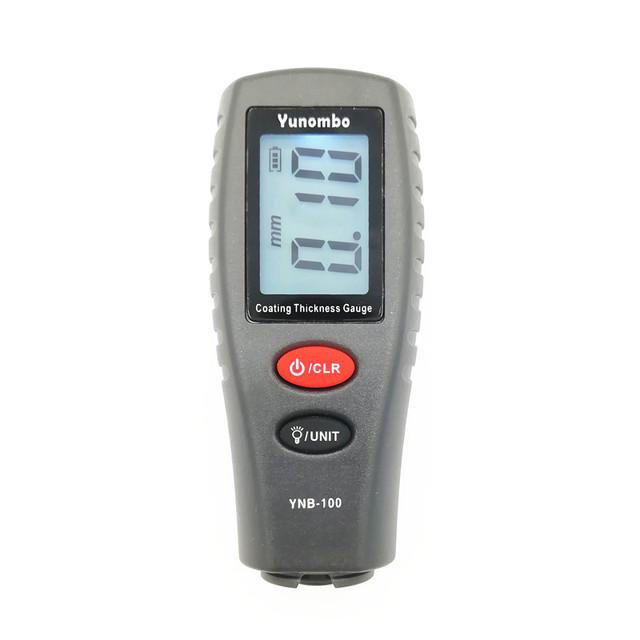 Yunombo Digital Backlight LCD Film Thickness Meter Car Paint Thickness Tester Coating Thickness Gauge YNB-100 3