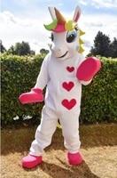 Unicorn mascot costume rainbow Pony magic Adult Mascot Costume for Halloween Purim Party Clothing Fancy Dress