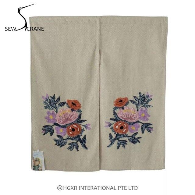 SewCrane Honeycomb Fabric Embroidery Design Wild Berries And Fruits Home  Restaurant Door Curtain Noren Doorway Room
