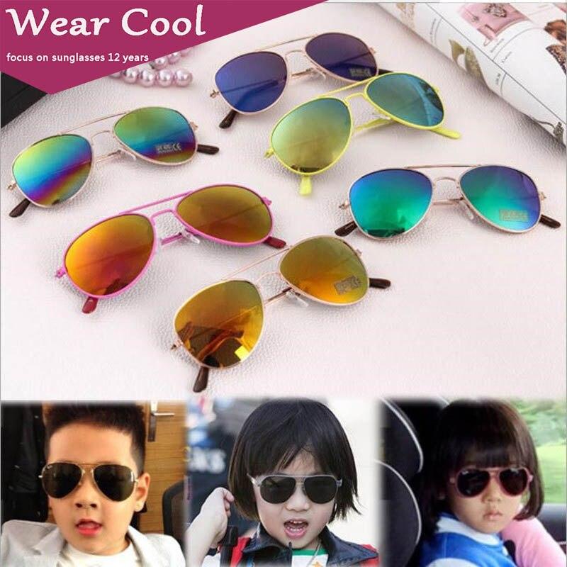 Wear Cool 2019 Fashion Brand Kids Sunglasses Anti-uv Baby Sun-shading Eyeglasses Girl Boy Classic Retro Cute Pilot Sun glasses(China)