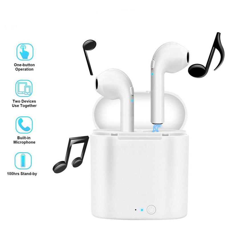 i7s TWS Mini Wireless Stereo Earbud Headset With Charging Box Mic For Iphone Bluetooth Earphone Xiaomi Android All Smart Phone