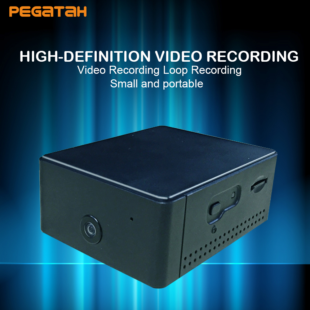 лучшая цена New MINI camera 24 hours recording with wide angle 160 deg HD camera support PIR trigger Motion Detection and Photo