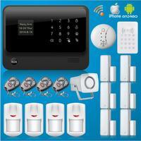 433 МГц оригинальная G90B Аварийная сигнализация wifi GSM сенсорная клавиатура 433 мгц RFID клавиатура домашняя охранная wifi/GSM/GPRS/SMS сигнализация