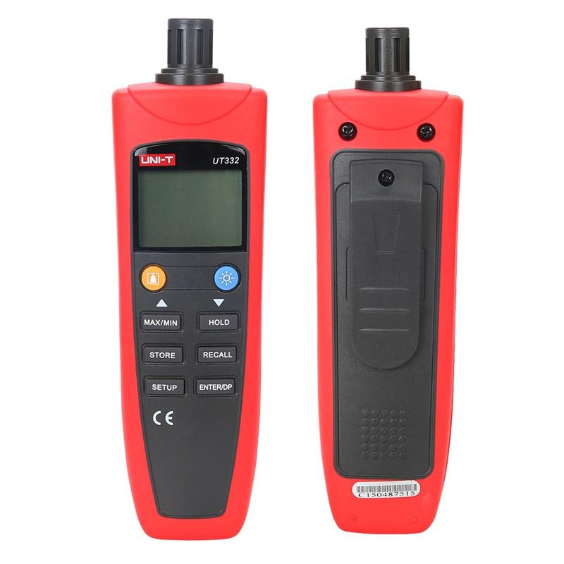 UNI-T Digital thermometer UT332 handheld temperature meter -20~60C lcd pyrometer meter Industrial hygrometer thermometer handheld digital grain temperature 8 20