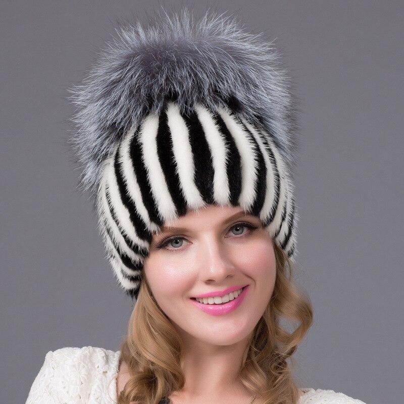 winter mink fur hat cap fashion warm female womens fur knitted beanies skullies beanies mink mink wool hat hat lady warm winter knight peaked cap cap peaked cap