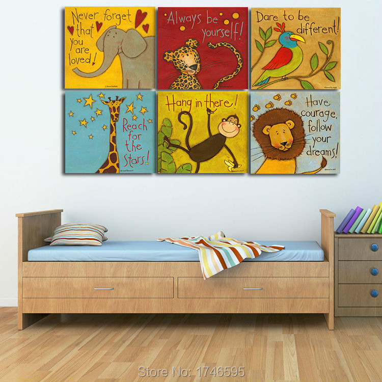 Childrens Wall Decor Canvas : Aliexpress buy pcs inches print