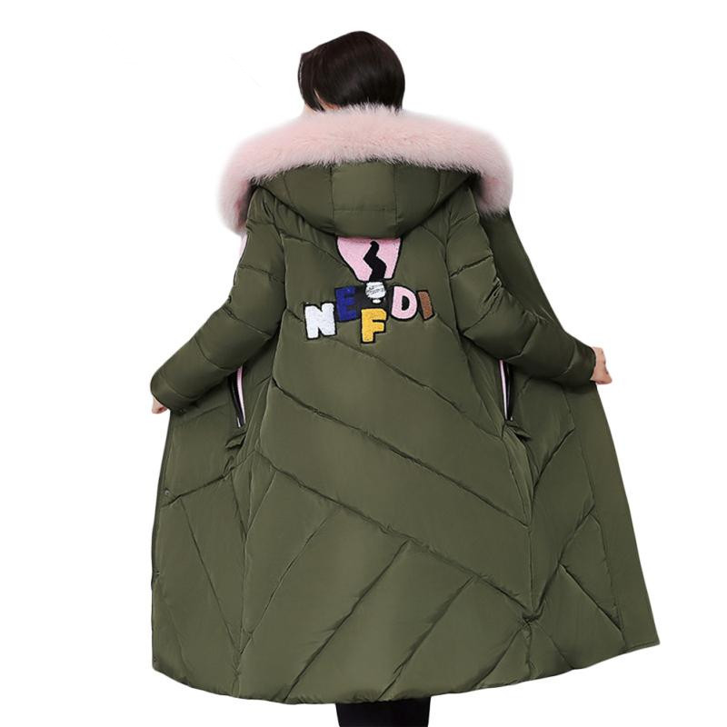 Fashion Faux Fur Collar Hooded Cotton Padded Manteau Femme Casual Womens Winter Jackets Large Size Parka Female Jacket TT3415 bishe women winter down jacket warm long parka femme 2017 faux fur collar hooded cotton padded parkas female manteau femme 4xl