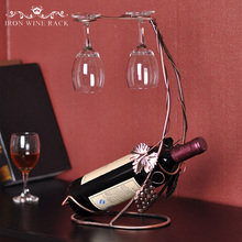 OnnPnnQ 24*12*38cm Metal Wine Racks Hanging Wine Glass Holder Barware Wine Glass Rack Accessories Romantic Dinner Decorative