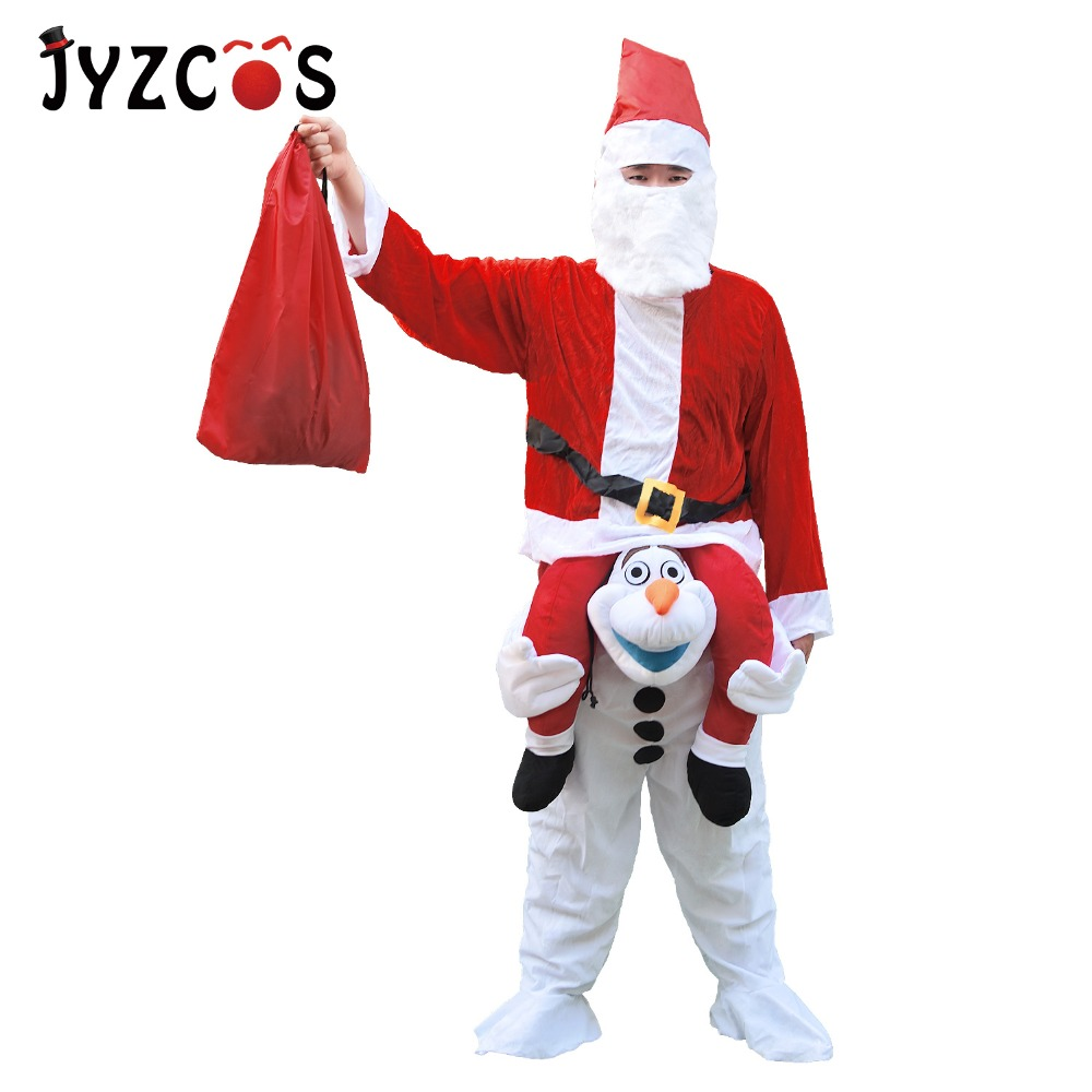 Christmas Adult Men Women Santa Claus costume Olaf Mascot Costume ...