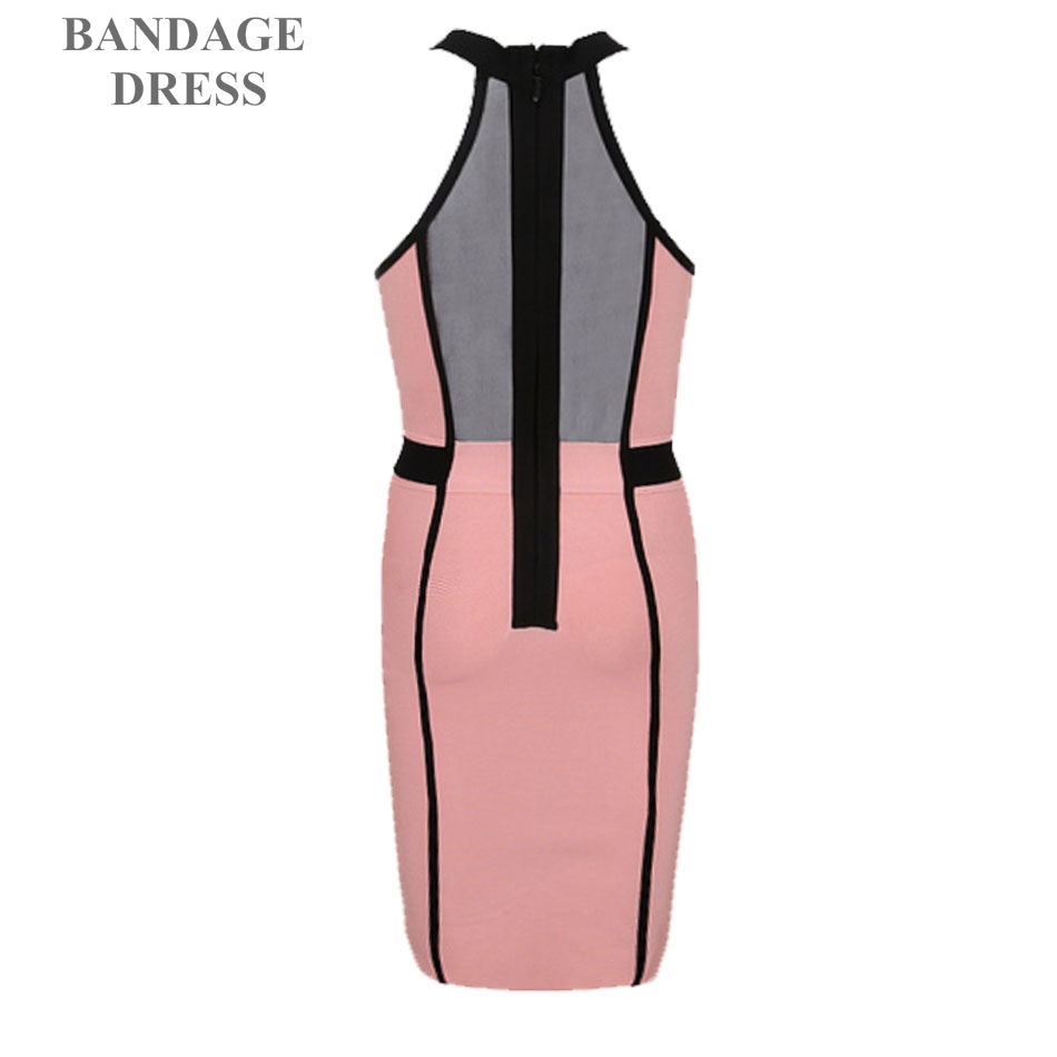 2017 Newest Summer Bandage Dress Women Celebrity Party Sleeveless Off Shoulder Sexy Hollow Out Night Out Dress Women Vestidos