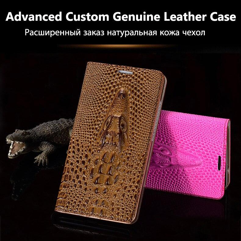 Couverture Pour Apple iPhone 7 6 6 S Plus Haute Qualité Top véritable Cuir Flip De Luxe Cas 3D Crocodile Grain Téléphone Sac + Livraison cadeau