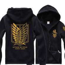 Mens Fashion Hoodies Attack on Titan Scouting Legion Eren Fleece Hooded  Sweatshirt Jersey Full Sleeve Hoodie Zip-up Tops Coat 0c7a40ed0
