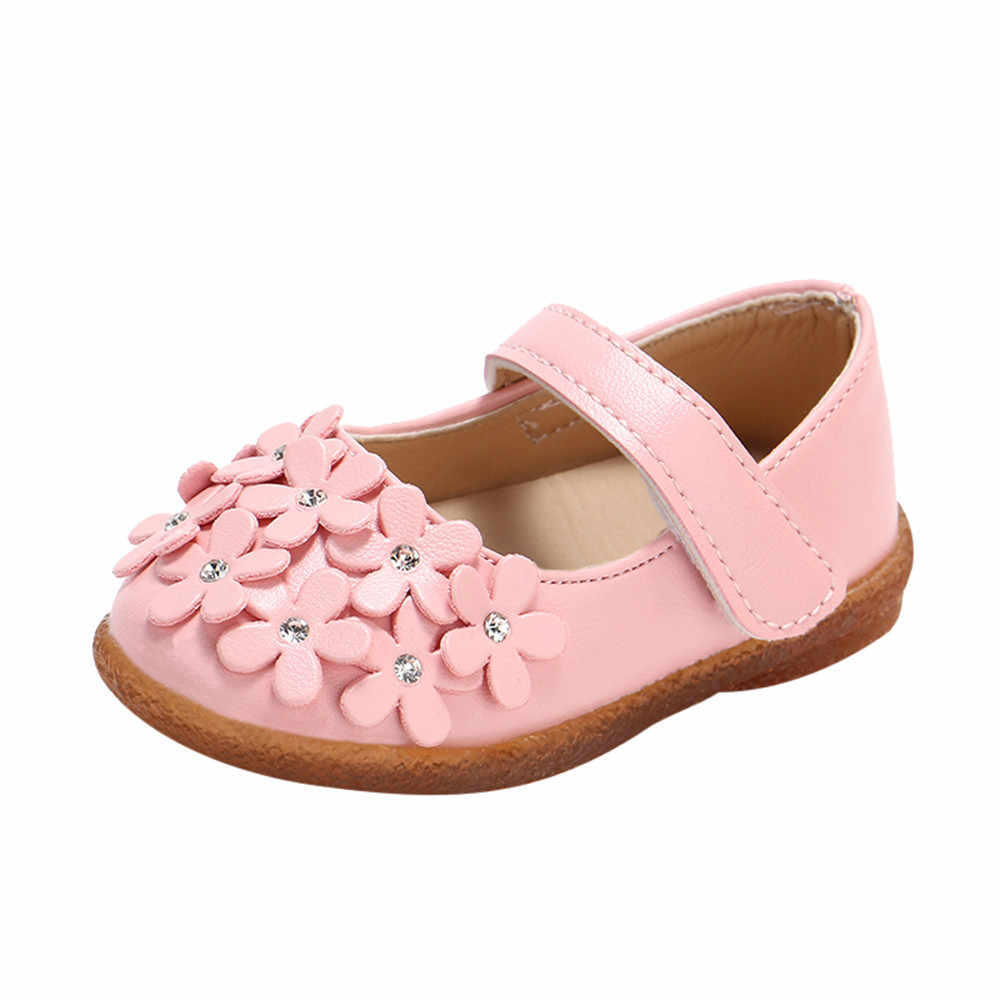flowers applique kids shoes for girl princess Leisure children shoes 2020 fashion Lovely Hook & Loop girls toddler shoes