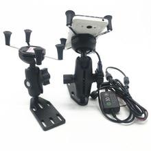 Dla Suzuki Burgman 125 400 650 SKY WAVE 650 AN400 ramka nawigacyjna gps telefon komórkowy wspornik nawigacyjny akcesoria motocyklowe