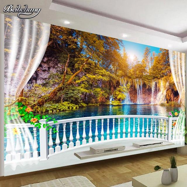 Beibehang 3D Wallpaper Nature Landscape Waterfall Decoration Mural
