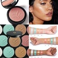 HUA MIAN LI Brand Face Powder Makeup Base Concealer Brightener Minerals Shimmer Highlighter Makeup Powder Contour