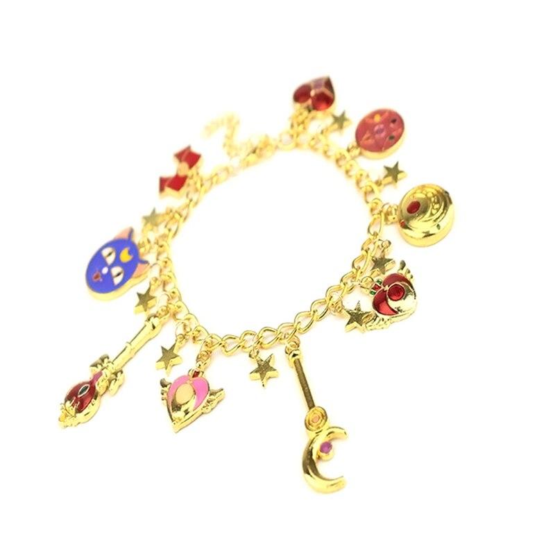 1PCS Wholesale Sweet Jewelry Guardian Girls Lucky Star Charms Bangle