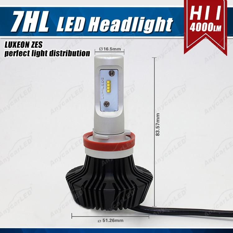 1 set H8 H9 H11 H16 (JP) 50W 8000LM G7 LED-strålkastare - Bilbelysning - Foto 2