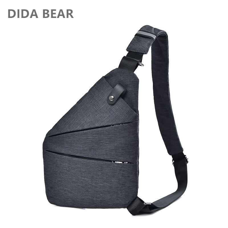 Waterproof Men/'s Chest Sling Backpack Pack Shoulder Bag Biker Crossbody Satchel