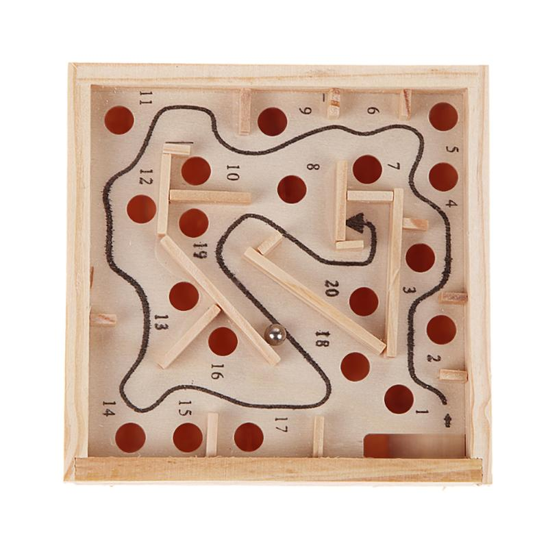 Children 3D Puzzle Wooden Maze Board Toys Kids Wood Maze Beads Board Game Math Toy Baby Intellectual Logic Balance Training Toys