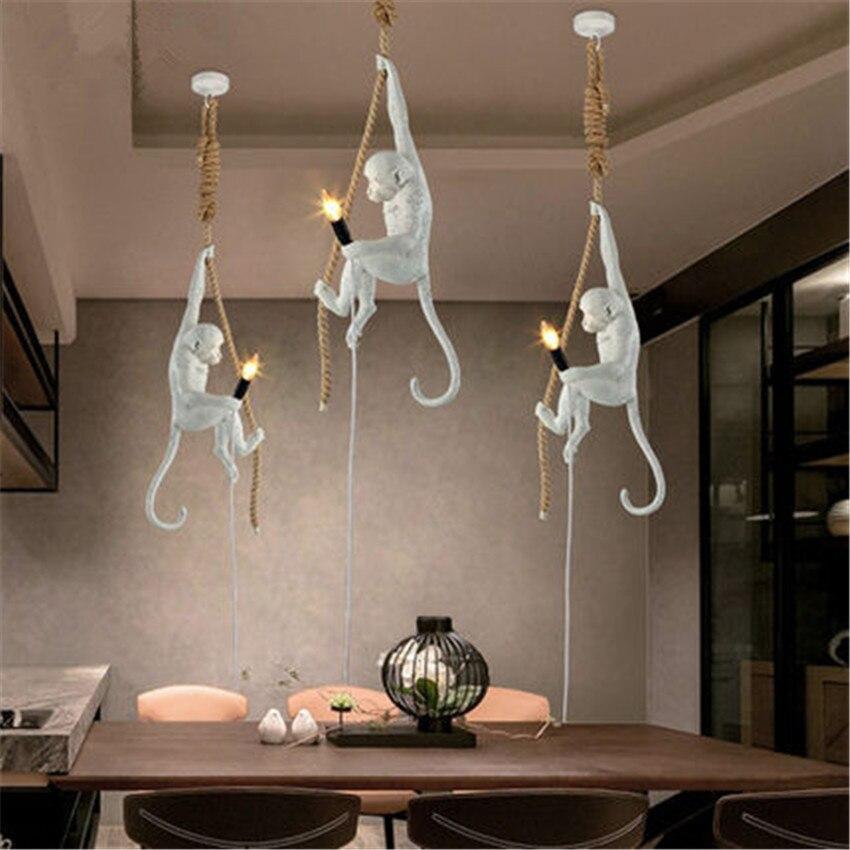 Preferenza Moderna Handmade Della Resina Scimmia Edison lampada a Sospensione  BO81