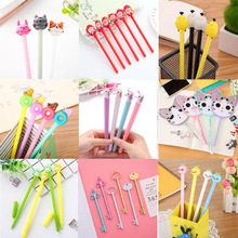 Kawaii Gel Pen Creative Cute Small Fresh Water-Based Carbon Signature Variety Optional Office School Supplies Stationery