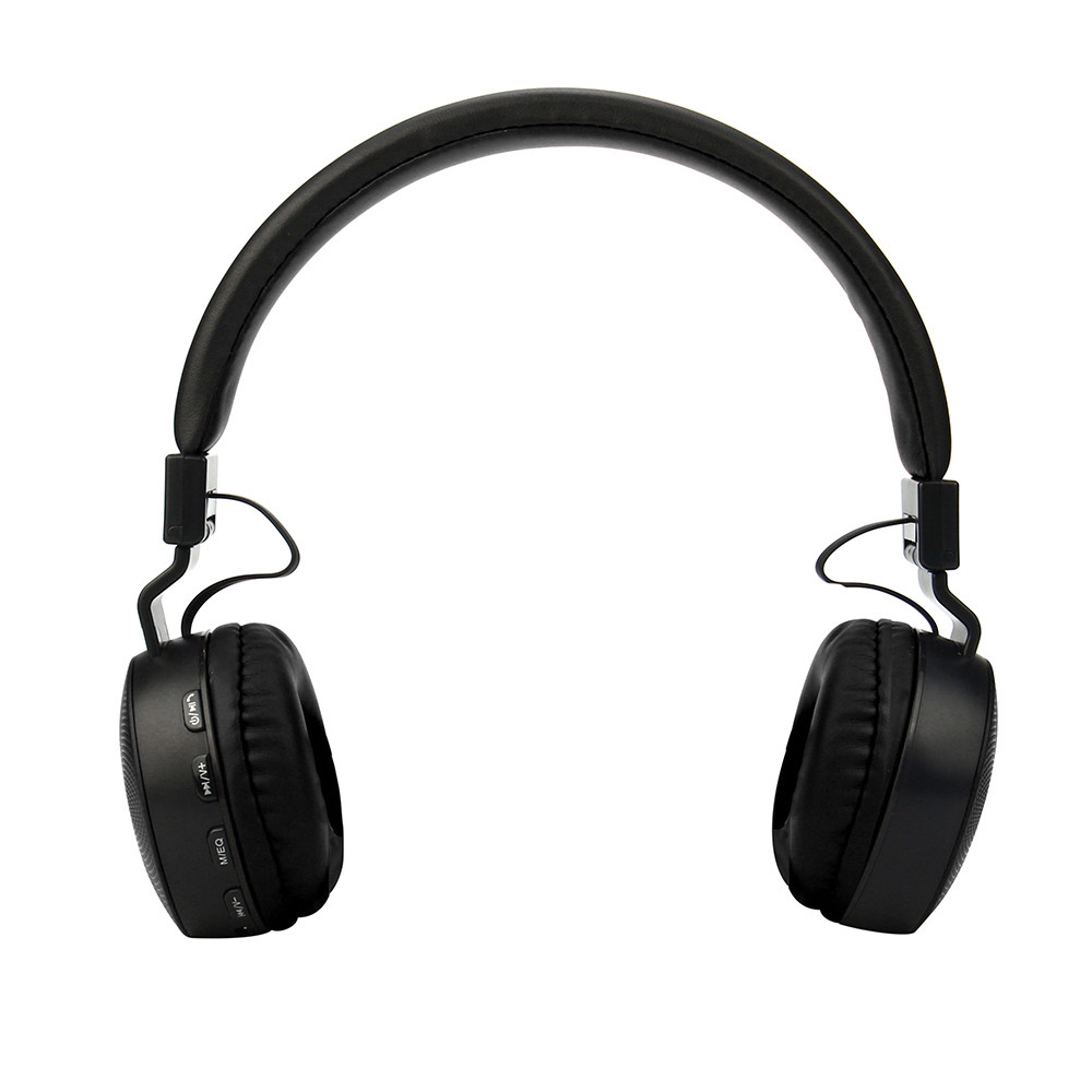 Black Color High Quality Rechargeable Wireless Bluetooth Foldable Over Ear 3.5mm stereo Music Headphones Headset With Mic foldable on ear wireless stereo bluetooth headphones headset supports fm