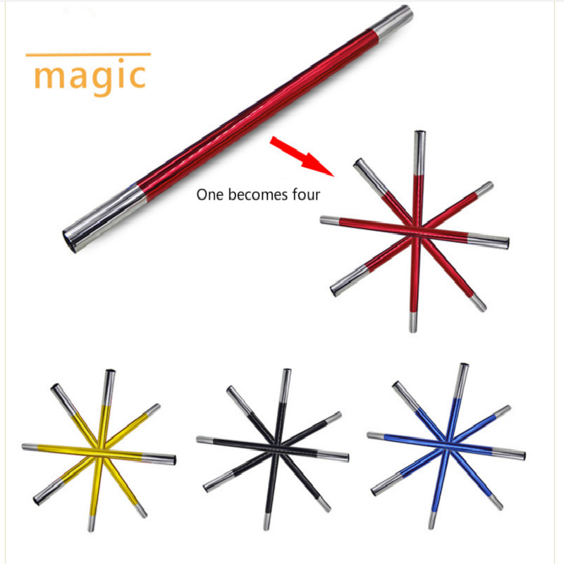 Classic Toy Multiplying Wand(Multi Color,50cm Professional Magicians Magic Split Wand Tricks Stage Gimmick Props Accessories