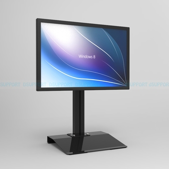 "L127 Full Rotation 13""-27"" single Screen Monitor Holder free lifting LCD LED TV Mount Desktop Stand Base column height 50cm"