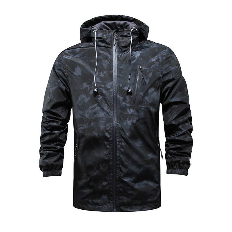 Spring And Fall Mens Windbreaker casual jacket zipper cardigan men hooded jacket men sportswear coat Free Shipping