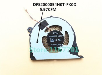New Original Laptop/Notebook CPU Cooling Fan For Dell Inspiron 15-7000 7577 DFS2000054H0T-FK0D 5.97CFM FK0F