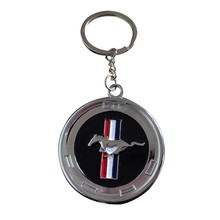 7cac257e68a5c Car Styling Metal New 3D Horse Emblem Badge KeyChain keyring Key Chain Ring  Fit for Ford Ford Mustang GT 500 Cobra